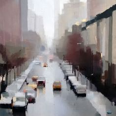 Snow Day - painting by Lisa Breslow