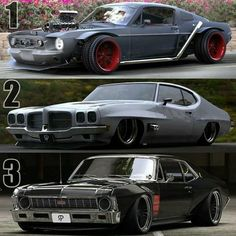 Muscle Cars, Mustang + GTO + SS #americanstyle