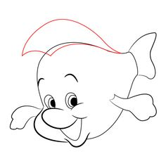 How To Draw Flounder From The Little Mermaid – Draw Central - therezepte sites The Little Mermaid 4, Little Mermaid Drawings, Disney Little Mermaids, Powerpuff Girls Cartoon, Girl Cartoon, Disney Drawings Sketches, Cartoon Drawings, Baby Disney Characters, Easy Animals