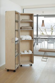 Shell can be used in many ways and be fitted with shelves, drawers or file hangers Plywood, Hangers, Shelving, Designer, Drawers, Shells, Mood, Home Decor, Ply Wood