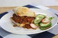 Chef Rodney Bowers makes the summer favourite on a steamed ciabatta bun with a side of freshly pickled cucumber salad. Marilyn Denis Recipes, Pickled Cucumber Salad, Diner Recipes, Food Shows, Food Dishes, Main Dishes, Slow Cooker Recipes, Good Food, Ciabatta