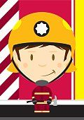 Dibujos animados: Gran jefe de bombero.