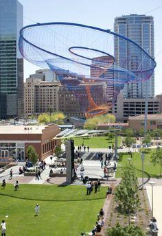 Janet Echelman Reshaping Urban Airspace World-Wide
