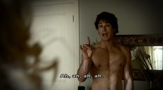 Damon and his many priceless no shirt moments