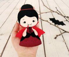 Halloween decoración adorno de Dracula vampiro juguete fieltro