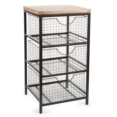 Mueble con 3 cajones de metal Al. 65 cm WOODY