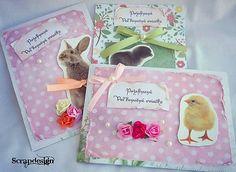 Scrapdesign / Veľkonočné pohľadnice / Easter postcard / scrapbooking