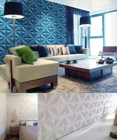 Modern Home Decor of Wall with 3D PVC Wall Panel