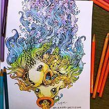Doodle Invasion: Zifflin's Coloring Book: Zifflin, Kerby Rosanes: