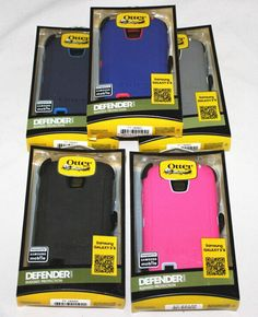 OtterBox Defender Phone Hard Case For Samsung Galaxy S4 W/ Belt Clip