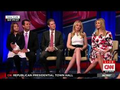 TRUMP FAMILY INTERVIEWED BY ANDERSON COOPER AT THE CNN REPUBLICAN PRESID...