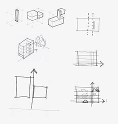 Parti drawing the basic idea of a design represented by a for Architectural concepts explained