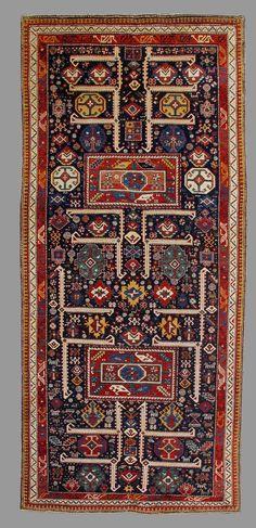 """Shirvan, Caucasus, late 19th C., 4' 1"""" x 8' 4"""""""