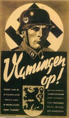 """Wervingsaffiche voor de Waffen SS """"Standarte Westland"""" - cc"""