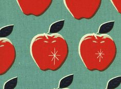 Cotton and Steel Melody Miller Picnic Apple Canvas Blue