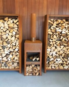 Foyers, Log Store, Weathering Steel, Into The Woods, Fire Bowls, Log Burner, Paving Stones, Wood Storage, Outdoor Cooking
