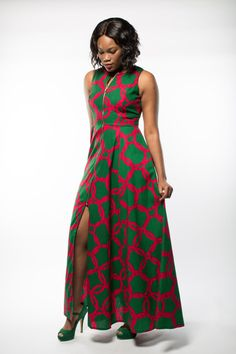 A Breathtaking Ankara Maxi Dress with the Aurora What a gorgeous way to style African print this! The unique combination makes this ankara playsuit enticing! Definitely trying this fall style soon. African Dresses For Women, African Print Dresses, African Print Fashion, Africa Fashion, African Attire, African Wear, African Fashion Dresses, African Women, African Prints