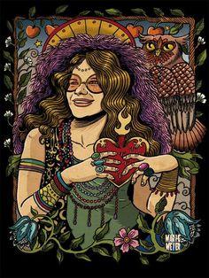 Janis Joplin #portrait #singer #rock #70s
