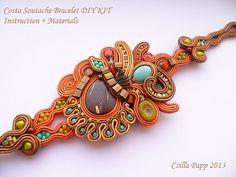 Soutache Bracelet Diy Kit instruction and materials by CsillaPapp