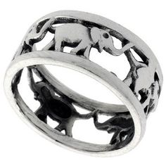 According to Buddhists and Hindus, wearing an elephant token can be good luck.  I want one of these...