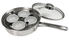 Stainless Steel 4 Egg Cooker Pan Cooks Poached Eggs. Stop Fry Cooking or Boiling Water in a Saucepan. Cookware Like This Poached Egg Cooker Replaces Silly Kitchen Gadgets That Don't Work. Enjoy Tasty Eggs Benedict or Perfect Poached Eggs on Toast. - http://sleepychef.com/stainless-steel-4-egg-cooker-pan-cooks-poached-eggs-stop-fry-cooking-or-boiling-water-in-a-saucepan-cookware-like-this-poached-egg-cooker-replaces-silly-kitchen-gadgets-that-dont-work-enjoy-tasty/