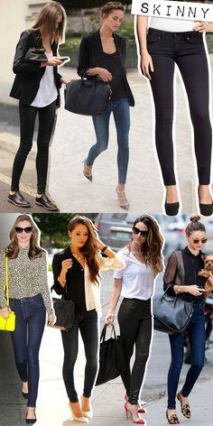 Skinny jeans | Skinny denim pants | Calça skinny | http://cademeuchapeu.com