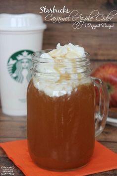 Starbucks Spiced Caramel Apple Cider Recipe! Easy Fall Drink Recipe!