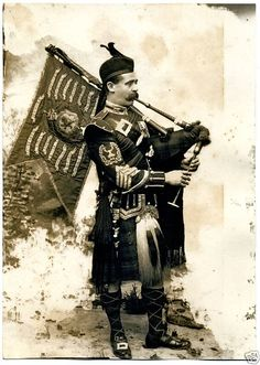 Gordon Highlanders - Pipe Major of the Gordon Highlanders in 1897