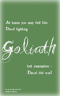 David did win!