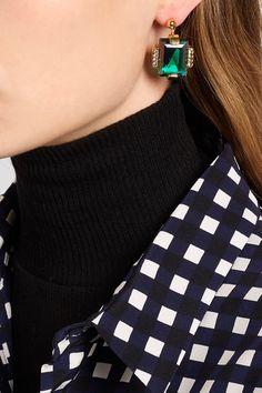 Marni | Gold-tone crystal earrings | NET-A-PORTER.COM