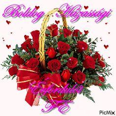 házassági évfordulóra 4th Of July Wreath, Christmas Wreaths, Floral Wreath, Gifs, Baba, Betty Boop, Holiday Decor, Emoji, Floral Crown
