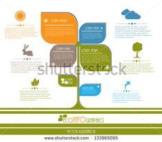 Modern design Ecology business template. Vector illustration