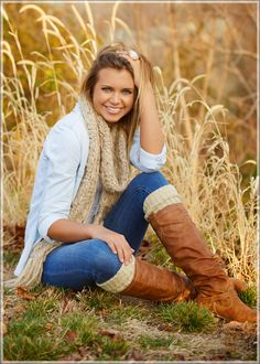 Creative Senior Pictures- love the boots and scarf for fall pics
