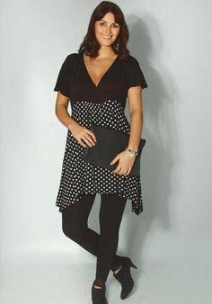 Mode grande taille femme été : Tendance Noir et Blanc chez Yours Clothing