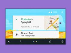 Material Design - Android Auto Interface