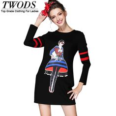 S- 5xl Autumn Winter Dress Cute Girl Pattern Long Sleeve Short Black High End Vestidos Like if you remember http://www.artifashion.net/product/s-5xl-autumn-winter-dress-cute-girl-pattern-long-sleeve-short-black-high-end-vestidos/ #shop #beauty #Woman's fashion #Products