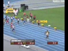 Bolt catapulta a Jamaica hacia el récord del mundo de los 4x100 - YouTube