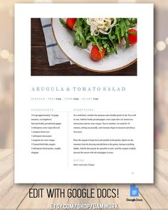 #me #cute #happy #like Recipe Book Template Simple Clean Family Cookbook, Editable Recipe Binder, Customizable Modern… #food #fun #love Recipe Book Templates, Cookbook Template, Recipe Printables, Recipe Book Design, Cookbook Design, Food Design, Menu Design, Design Design, Graphic Design