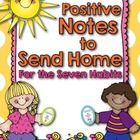 Notes Home for 7 Habits of Happy Kids