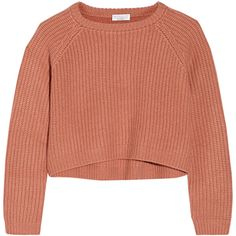 Brunello Cucinelli Ribbed-knit cashmere sweater (2.273.700 COP) ❤ liked on Polyvore featuring tops, sweaters, shirts, jumpers, pink, brunello cucinelli sweaters, pink cashmere sweater, pink sweater, ribbed knit sweater and cashmere jumper