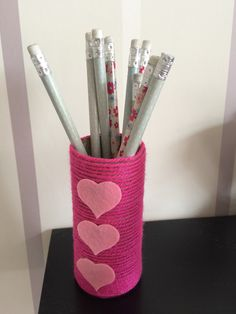 Toilet paper roll pencil holder