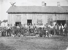 Workers in Kohler's Sheboygan Union Iron and Steel Foundry, Wisconsin, 1873  (Kohler Co.)