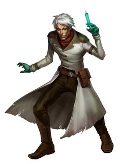 Male Human Vivisectionist Alchemist - Pathfinder PFRPG DND D&D d20 fantasy | Nerd art, D&d, Fantasy characters Character Concept, Character Art, Character Design, Nerd Art, Sci Fi Characters, Shadowrun, Character Portraits, Sci Fi Fantasy, Horror Art