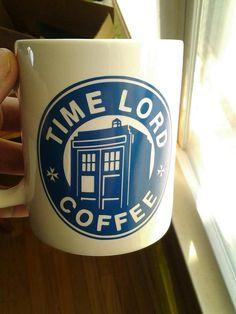 Doctor Who and Starbucks inspired Coffee Mug - Vinyl Decal on Mug on Etsy, $15.00