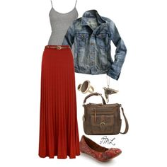 A fashion look from January 2013 featuring BKE tops, Madewell jackets and Yumi skirts. Browse and shop related looks.