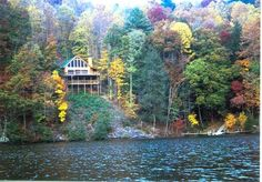 Cashiers 5 br Lake Front Vacation Rental Cabin: Serenity on Cedar - Fall Splendor  Holidays in the Smokies