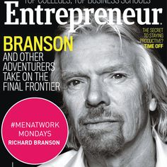 #RichardBranson is our #MenAtWork. He is best known as the founder of @Virgin Group (including 400 companies like Virgin Atlantic & Virgin Records) and worth an estimated $4.6Billion. He is currently on the October cover of @entmagazine. #RichardBranson #Virgin #LetsTalkBusiness