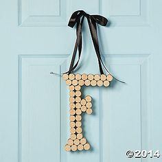 If you tire of paper crafts or jewelry making, try this stylishly original iea! Crafted from corks, this Monogram Door Hanger is marvelous way to decorate any ...