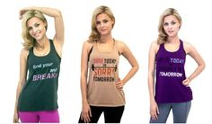 Check out our new Graphic Tanks $18.00  http://www.yogiclothing.com/collections/just-arrived