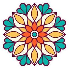 Discover recipes, home ideas, style inspiration and other ideas to try. Mandala Art, Mandala Design, Mandala Drawing, Mandala Painting, Dot Painting, Mandala Book, Stained Glass Patterns, Mosaic Patterns, Pattern Art